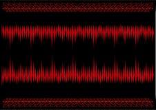 Den abstrakta aggressiva röd-svart bakgrunden Arkivbild