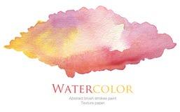 Den abstrakta akryl- och vattenfärgborsten slår målad bakgrund Royaltyfria Foton