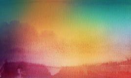 Den abstrakta akryl- och vattenfärgborsten slår målad bakgrund Royaltyfri Fotografi