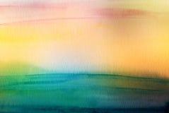 Den abstrakta akryl- och vattenfärgborsten slår målad bakgrund Fotografering för Bildbyråer