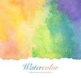Den abstrakta akryl- och vattenfärgborsten slår målad bakgrund Arkivbild