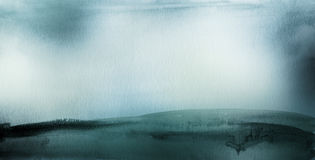 Den abstrakta akryl- och vattenfärgborsten slår målad bakgrund Royaltyfri Foto