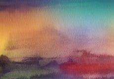 Den abstrakta akryl- och vattenfärgborsten slår målad bakgrund Arkivfoto