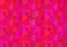 Den abstrakta bakgrunden av fyrkanter i skuggor av rött Arkivbilder