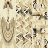 Den abstrakta bilden, den abstrakta bilden, färgrika diagram och gobelänger kan det användas som en modell för tyget Fotografering för Bildbyråer