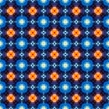Den abstrakta blåa apelsinen prack textur, eller bakgrund gjorde sömlöst Royaltyfri Illustrationer