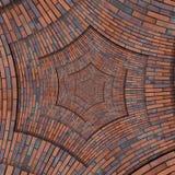 Den abstrakta bruna röda fyrkanten förhäxer spiral textur för bakgrund för modell för tegelstenvägg Fract för modell för brun vin Royaltyfria Foton
