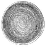 Den abstrakta cirkelblyertspennan klottrar bakgrund Royaltyfri Foto