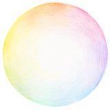 Den abstrakta cirkelblyertspennan klottrar bakgrund Arkivfoto