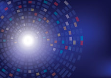 Den abstrakta cirkeln kvadrerar vektorbakgrund Fotografering för Bildbyråer
