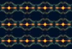 Den abstrakta datoren 3d frambragte glödande konstnärligt slätt teknologiskt geometriskt fractalsmodellkonstverk stock illustrationer