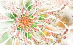 Den abstrakta datoren frambragte fractalblommadesign Digital konstverk för minnestavlabakgrund, skrivbords- tapet eller för idéri royaltyfri illustrationer