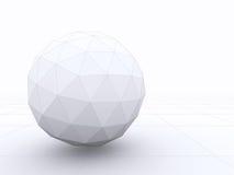 Den abstrakta designen 3D av en sfär med wireframe fodrar Royaltyfri Bild