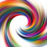 Den abstrakta designen med regnbågen fodrar i rörelse Arkivbilder