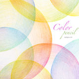 Den abstrakta färgblyertspennan klottrar bakgrund Arkivfoto