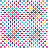 Den abstrakta färgrika spektrumtegelplattafyrkanten utformar den moderna tygbakgrundsmodellen Texture_2 stock illustrationer