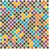 Den abstrakta färgrika spektrumtegelplattafyrkanten utformar den moderna tygbakgrundsmodellen Texture_6_1 stock illustrationer