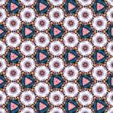 Den abstrakta fortlöpande tegelplattamodellen med tusenskönor, triangelkamomillar, verkställer pappers- blommor royaltyfri illustrationer