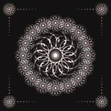 Den abstrakta fractalen blommar på svart bakgrund Royaltyfri Foto