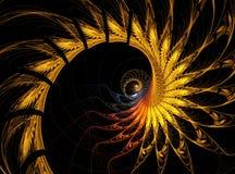 Den abstrakta fractalen flammar bakgrund Royaltyfri Bild