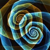 Den abstrakta fractalen formar bakgrund Arkivbild