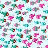 Den abstrakta färgtecknade filmen fiskar i havet Royaltyfri Fotografi