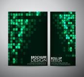 Den abstrakta fyrkantiga mallen för designen för affären för rambakgrundsbroschyren eller rullar upp Royaltyfri Fotografi