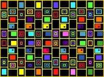 Den abstrakta geometriska bakgrunden av kulöra fyrkanter Royaltyfri Bild