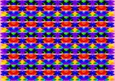 Den abstrakta geometriska färgrika bakgrunden Arkivbilder