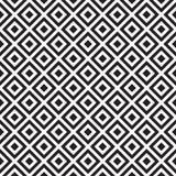 Den abstrakta geometriska modellen med band, linjer, kvadrerar Sömlös vektorackground Svartvit gallertextur Bakgrund geo Royaltyfria Foton