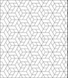 Den abstrakta geometriska modellen med band, linjer, kvadrerar Sömlös vektorackground Svartvit gallertextur Bakgrund geo Arkivbild