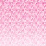 Den abstrakta geometriska triangelmodellmosaiken på rosa färger färgar backgro Fotografering för Bildbyråer