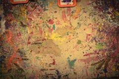 Den abstrakta grungeakrylhanden målade på kanfasbakgrund arkivfoton