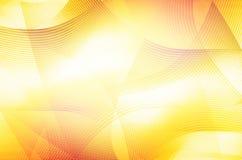 Den abstrakta gula linjen buktar bakgrund Royaltyfri Bild