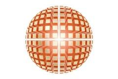 Den abstrakta guld- sfären från många särar, affärslogoen 3d framför vektor illustrationer