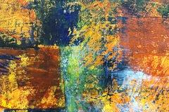 Den abstrakta handen målade kanfasbakgrund med uttrycksfull borstest Royaltyfri Fotografi