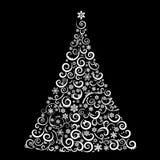 Den abstrakta julgranen Arkivfoto