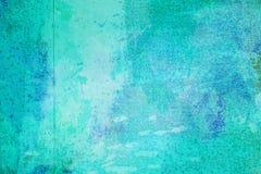 Den abstrakta ljusa blåa yttersidan har en borste som målas på bakgrunden för grafisk design arkivbild