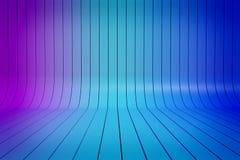 Den abstrakta lutningen för blått 3D gör randig bakgrund Royaltyfri Foto