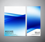 Den abstrakta mallen för broschyraffärsdesignen eller rullar upp Royaltyfri Fotografi