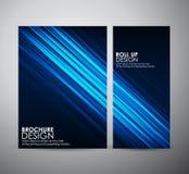 Den abstrakta mallen för broschyraffärsdesignen eller rullar upp Arkivfoto