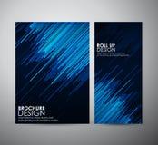 Den abstrakta mallen för broschyraffärsdesignen eller rullar upp Royaltyfri Bild