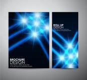 Den abstrakta mallen för broschyraffärsdesignen eller rullar upp Royaltyfria Foton