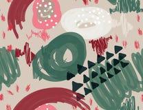 Den abstrakta markören klottrar prickar och triangelljus - grå färg Arkivbild