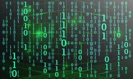 Den abstrakta matrisen numrerar bakgrund Tekniskt avancerad datorbakgrund royaltyfria foton