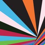Den abstrakta moderna eleganta färgrika geometriska bandsolen brast Busi stock illustrationer