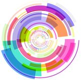 Den abstrakta multicolour cirkelbilden royaltyfri illustrationer