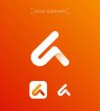 Den abstrakta origamin för triangelbokstav A utformar logomallen applicat Royaltyfria Foton