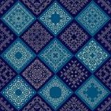 Den abstrakta patchworken belägger med tegel sömlös bakgrund Royaltyfri Bild