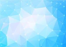 Den abstrakta polygonen i blått tonar bakgrund royaltyfri illustrationer